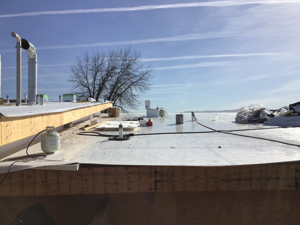 New science classrooms roofs underway.