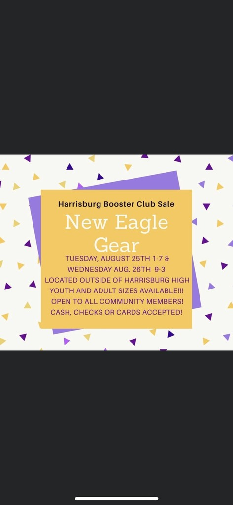 Booster Club apparel sale at HHS